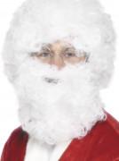 Hvidt skæg og paryk voksen jul