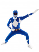 Blå kostume Morphsuit™ Power Rangers™ voksen