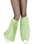 Grønne benvarmere i imiteret pels