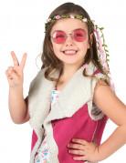Krans med lyserøde blomster børn