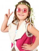 Krans med cremehvide blomster børn