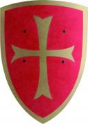 Rødt skjold med kors til børn