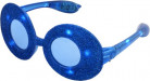 Blå ovale briller med glimmer