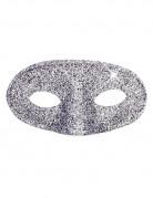 Glinsende sølvmaske voksen