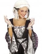 Korte hvide spidse handsker damestørrelse