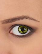 Kontaktlinser fantasy gule med sorte kanter voksen