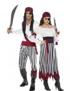 Par kostume pirater med striber
