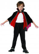 Kappe vampyr rød og sort barn