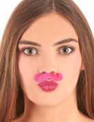 Overskæg pink