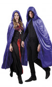 Kappe lilla veloureffekt 170 cm voksen Halloween