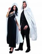 Kappe hvid veloureffekt 120 cm voksen Halloween