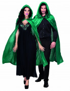 Kappe grøn veloureffekt 120 cm voksen Halloween