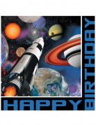 16 Papirservietter Happy Birthday 33 x 33 cm