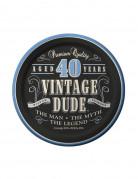 Vintage 40 års paptallerkener 8 stk.