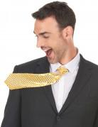 Guld skinnende slips - voksen