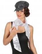 Sølv paillet halstørklæde - voksen
