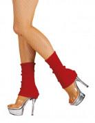 Røde leggings - kvinde