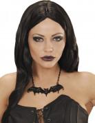 Halskæde sort flagermus til voksne Halloween