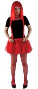 Rødt tylskørt til Halloween