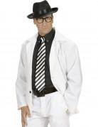 Sort- og hvidstribet slips