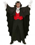 Sort vampyrkappe 150 cm Halloween