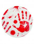 6 tallerkener blodige hænder 23 cm Halloween