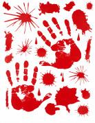 Klistermærker med blodige håndaftryk Halloween