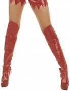 Støvlebetræk af rød lak voksen