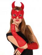 Rødt djævlekit til Halloween