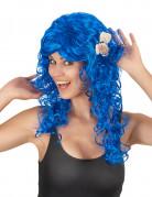 Paryk mørkeblå lang til kvinder