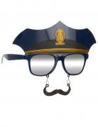 Politibriller med Overskæg Voksen