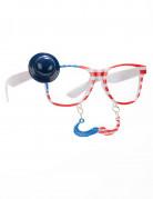 Briller med overskæg USA til voksne