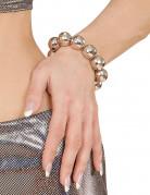 Discokugle armbånd sølv