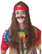 Hippieparyk med overskæg