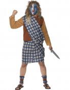 Skotsk kriger herre kostume