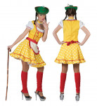 Tyrolerkjole gul kvinde kostume