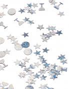 Trio konfetti i sølv