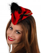 Rød mini pirathat til kvinder