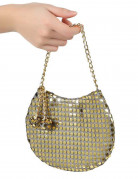 Håndtaske disko guldfarvet