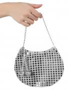 Håndtaske disko sølvfarvet