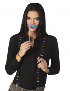 Seler sorte med neonfarvede overskæg til voksne