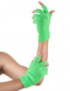 Halvhandsker korte neon grønne til voksne