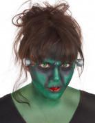 Makeupsæt monster grønt med fantasykontaktlinser voksne
