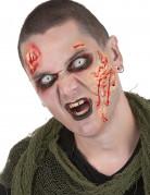 Sminkekit zombie med kontaklinser til voksne Halloween