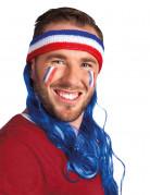 Pandebånd mulddyr med hår supporter de blå Frankrig til voksne