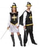 Kostume musketer i sort til voksne