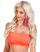 Neon orange Elastisk top Kvinde