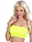 Neon gul Elastisk top Kvinde