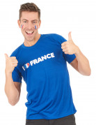 T-shirt I love france supporter til voksne