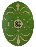 Skjold romerst grønt og guld af træ 35 * 49 cm